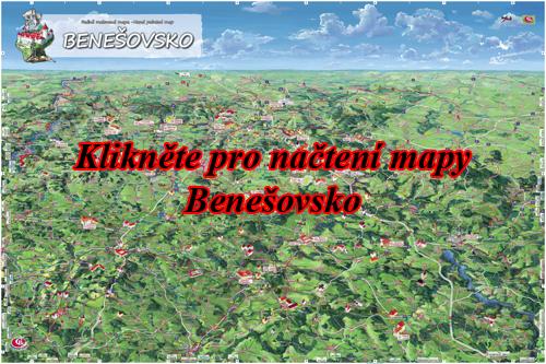 Interaktivní malovaná mapa Benešovsko