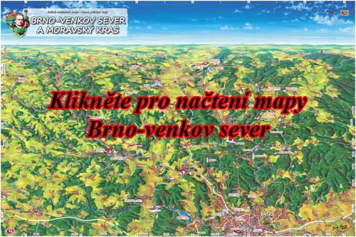 Interaktivní malovaná mapa Brno-venkov sever