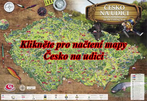 Interaktivní malovaná mapa Česko na udici