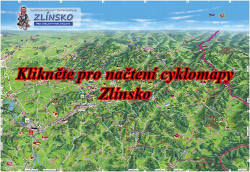 Interaktivní malovaná mapa Zlínsko