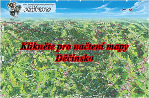 Interaktivní malovaná mapa Děčínsko