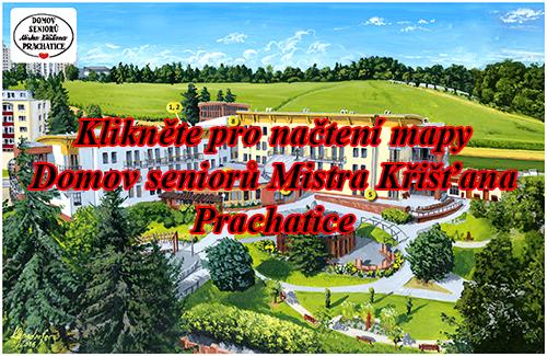 Interaktivní malovaná mapa Domov seniorů Prachatice