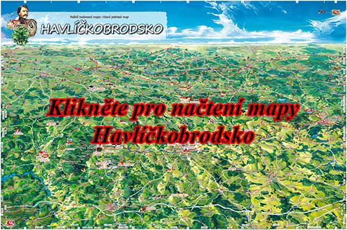 Interaktivní malovaná mapa Havlíčkobrodsko