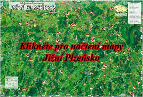 Interaktivní malovaná mapa Jižní Plzeňsko