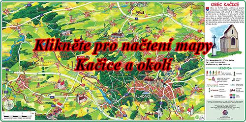 Interaktivní malovaná mapa Kačice a okolí