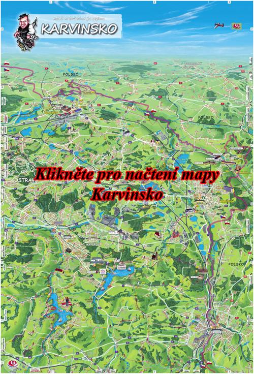 Interaktivní malovaná mapa Karvinsko