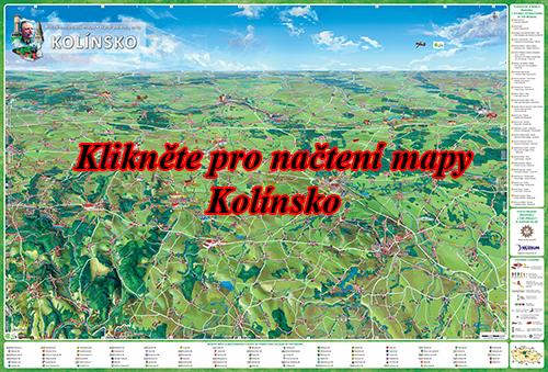 Interaktivní malovaná mapa kolínsko