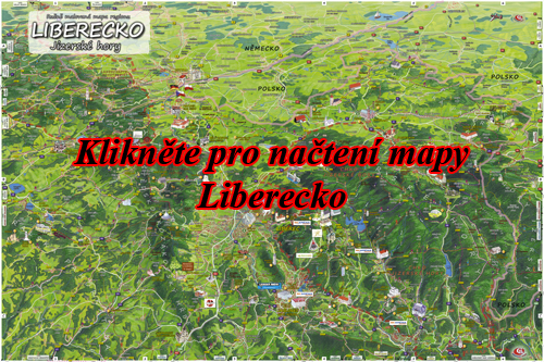 Interaktivní malovaná mapa Liberecko