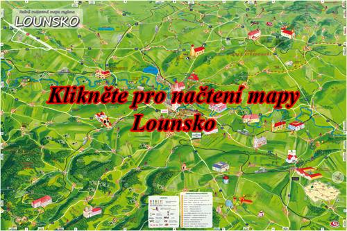 Interaktivní malovaná mapa Lounsko