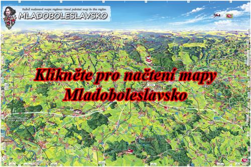 Interaktivní malovaná mapa Mladoboleslavsko