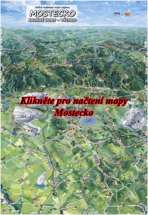 Interaktivní malovaná mapa Mostecko