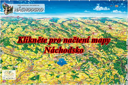 Interaktivní malovaná mapa Náchodsko