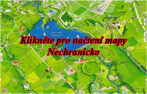 Interaktivní malovaná mapa Nechranicko