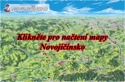 Interaktivní malovaná mapa Novojičínsko