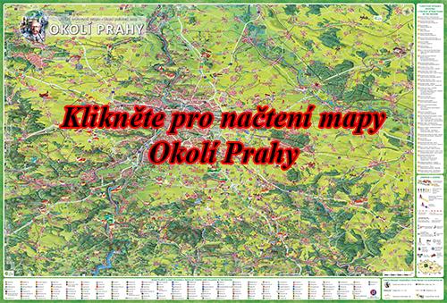 Interaktivní malovaná mapa Okolí Prahy
