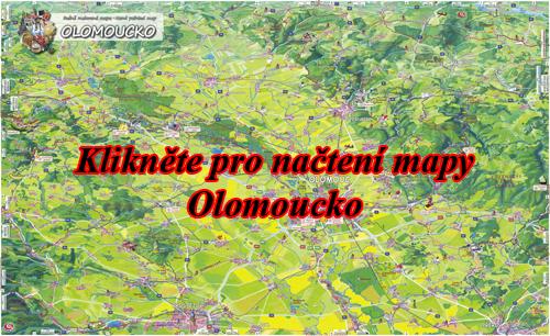 Interaktivní malovaná mapa Olomoucko