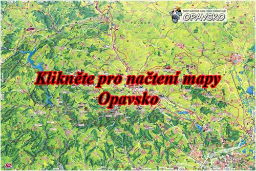 Interaktivní malovaná mapa Opavsko