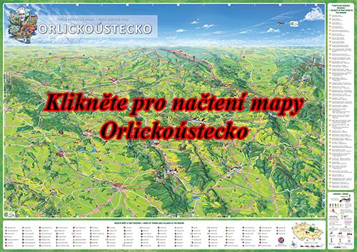 Interaktivní malovaná mapa Orlickoústecko