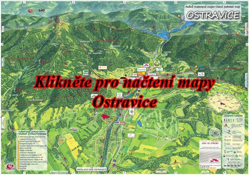 Interaktivní malovaná mapa Ostravice