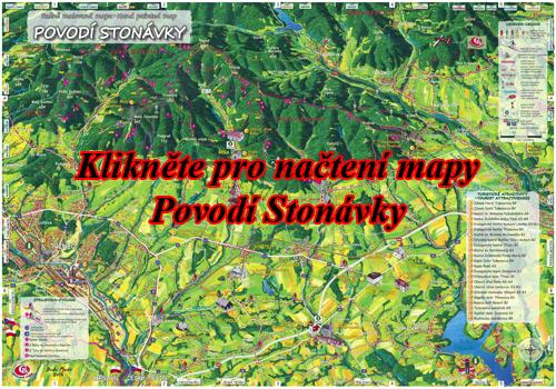 Interaktivní malovaná mapa Povodí Stonávky