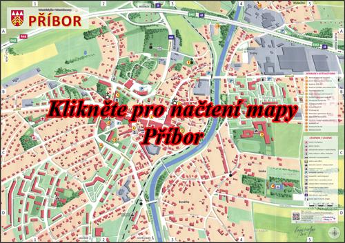 Interaktivní malovaná mapa Příbor