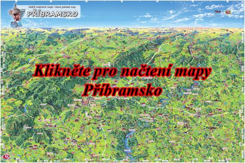 Interaktivní malovaná mapa Příbramsko