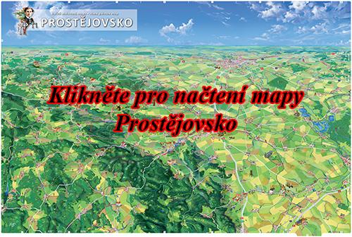 Interaktivní malovaná mapa Prostějovsko