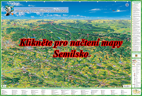 Interaktivní malovaná mapa Semilsko