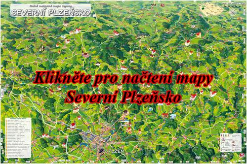 Interaktivní malovaná mapa Severní Plzeňsko