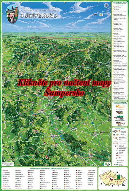 Interaktivní malovaná mapa Šumpersko