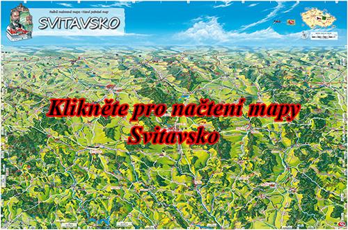 Interaktivní malovaná mapa Svitavsko