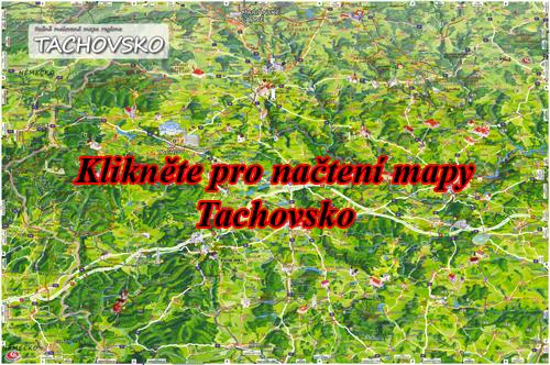 Interaktivní malovaná mapa Tachovsko