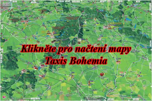 Interaktivní malovaná mapa Taxis Bohemia