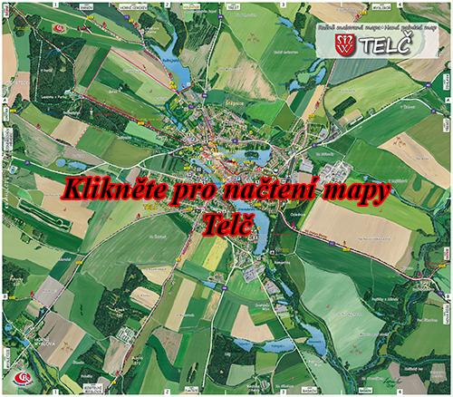 Interaktivní malovaná mapa Telč