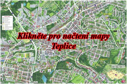 Interaktivní malovaná mapa Teplice