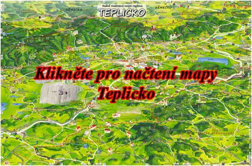 Interaktivní malovaná mapa Teplicko