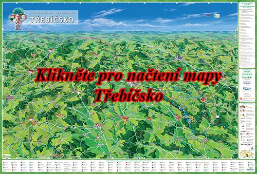 Interaktivní malovaná mapa Třebíčsko