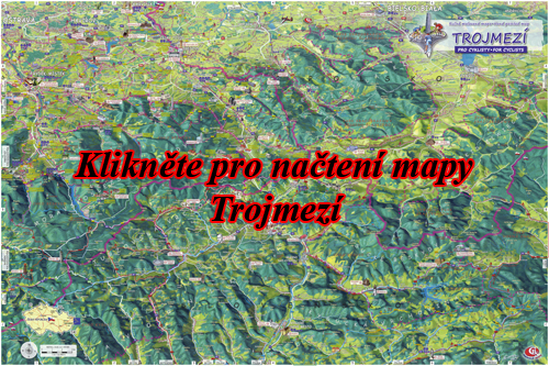 Interaktivní malovaná mapa Trojmezí