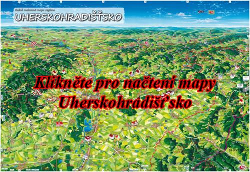 Interaktivní malovaná mapa Uherskohradišťsko