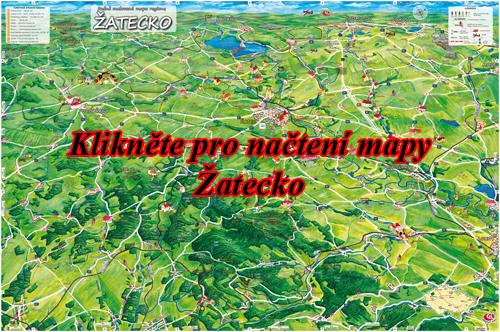 Interaktivní malovaná mapa Žatecko