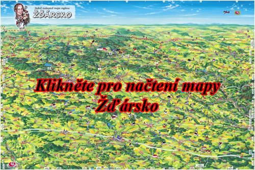 Interaktivní malovaná mapa Žďársko