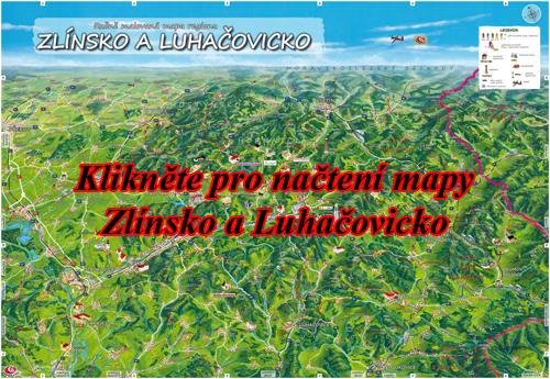 Interaktivní malovaná mapa Zlínsko a Luhačovicko