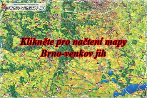 Interaktivní malovaná mapa Brno-venkov jih