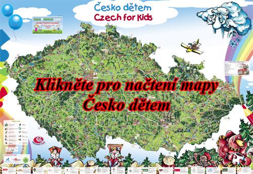 Interaktivní malovaná mapa Česko dětem