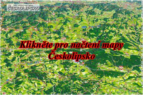Interaktivní malovaná mapa Českolipsko