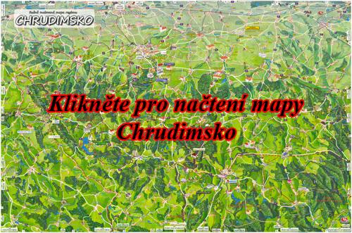 Interaktivní malovaná mapa Chrudimsko