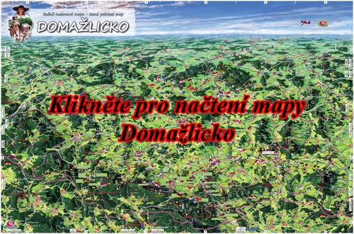 Interaktivní malovaná mapa Domažlicko