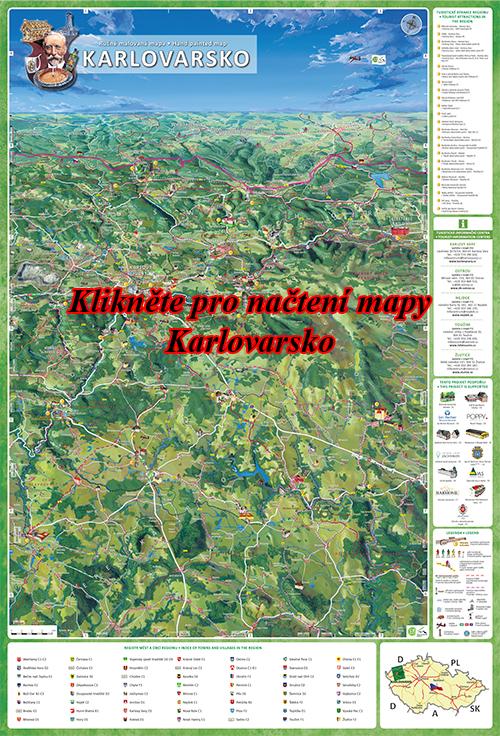 Interaktivní malovaná mapa Karlovarsko