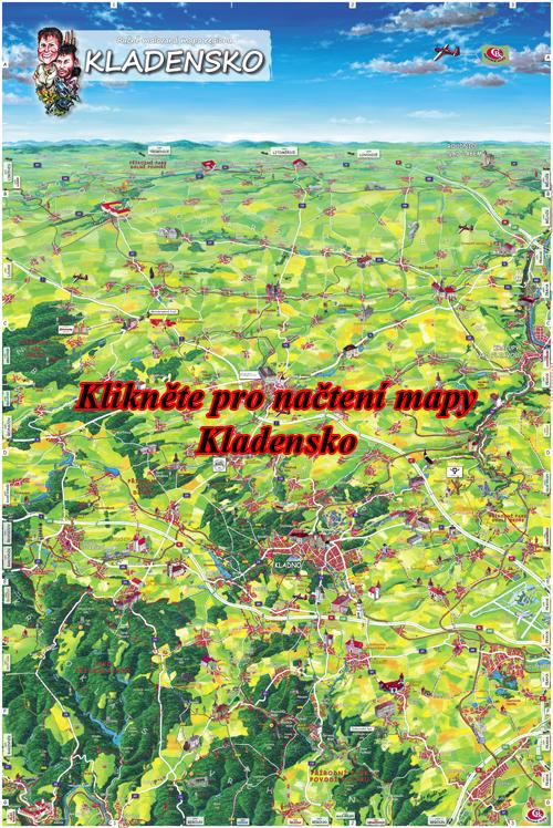 Interaktivní malovaná mapa Kladensko