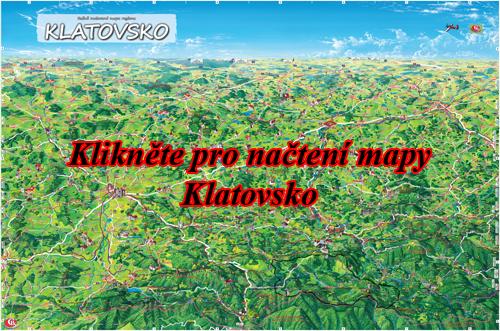 Interaktivní malovaná mapa Klatovsko